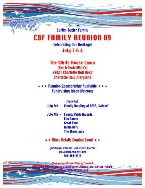 Reunion invitation samples and registration forms - save the date ...