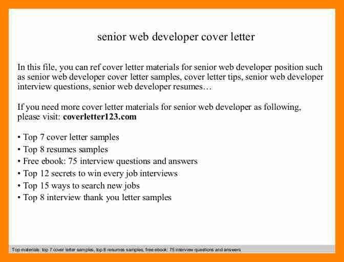 6+ developer cover letter | resume sections