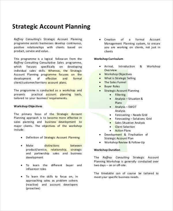 7+ Strategic Plan Template - Free Sample, Example, Format Download
