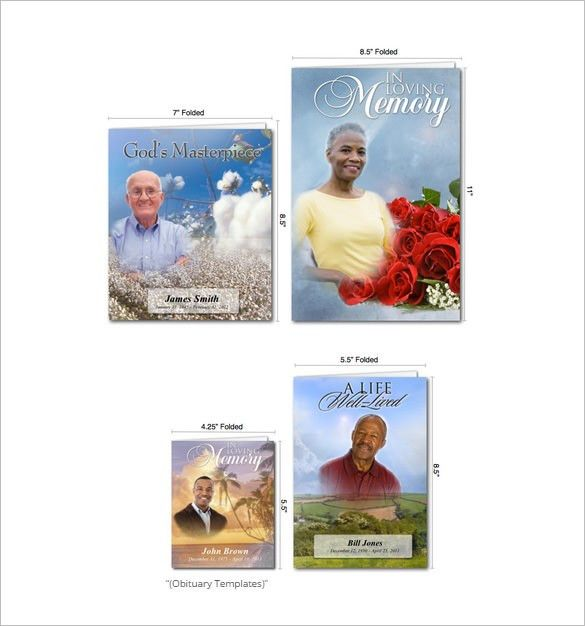 Free Obituary Templates – 13+ Free Word, Excel, PDF Format ...