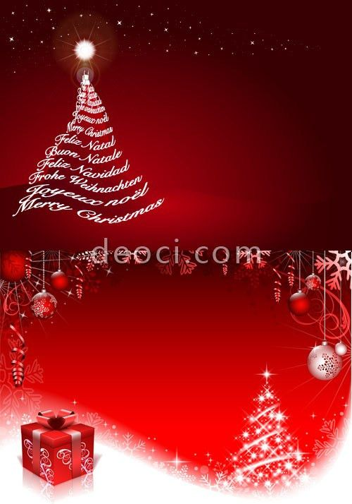 Free red Christmas Christmas tree posters advertising background ...