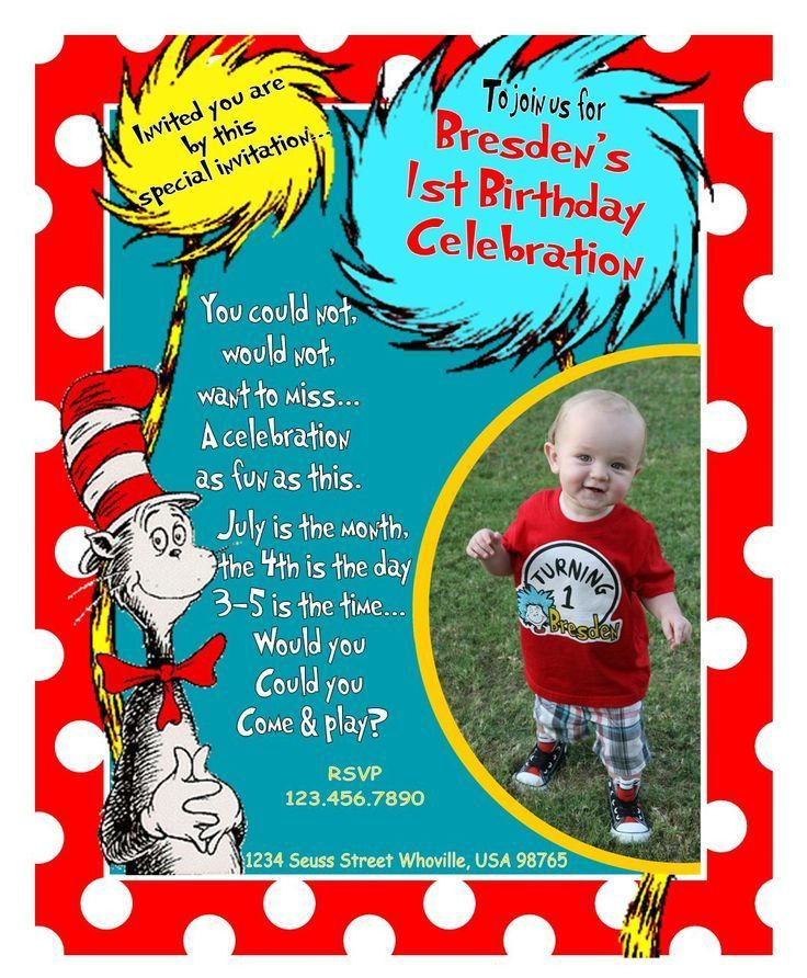 Best 25+ Dr seuss invitations ideas on Pinterest | Dr seuss ...