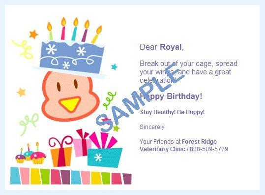 ePetHealth.com Birthday Card Samples