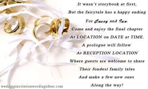 Unique Wedding Invitation Words - vertabox.Com