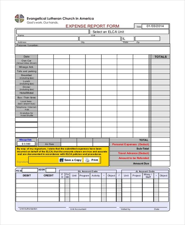 Sample Expense Form - 21+ Free Documents in Excel, PDF