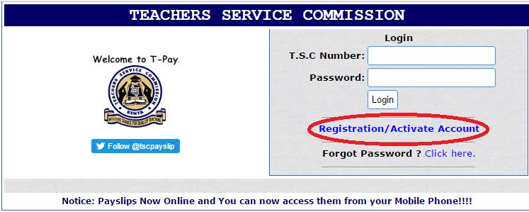TSC Online Payslips for Teachers Registration and Download Guide