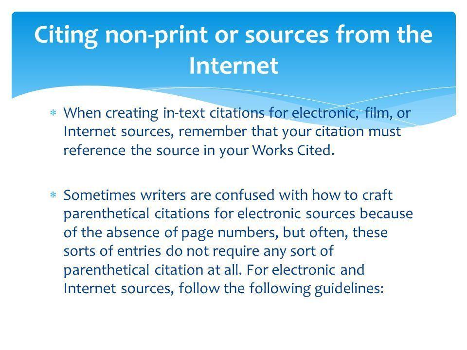 MLA Format & Works Cited - ppt video online download