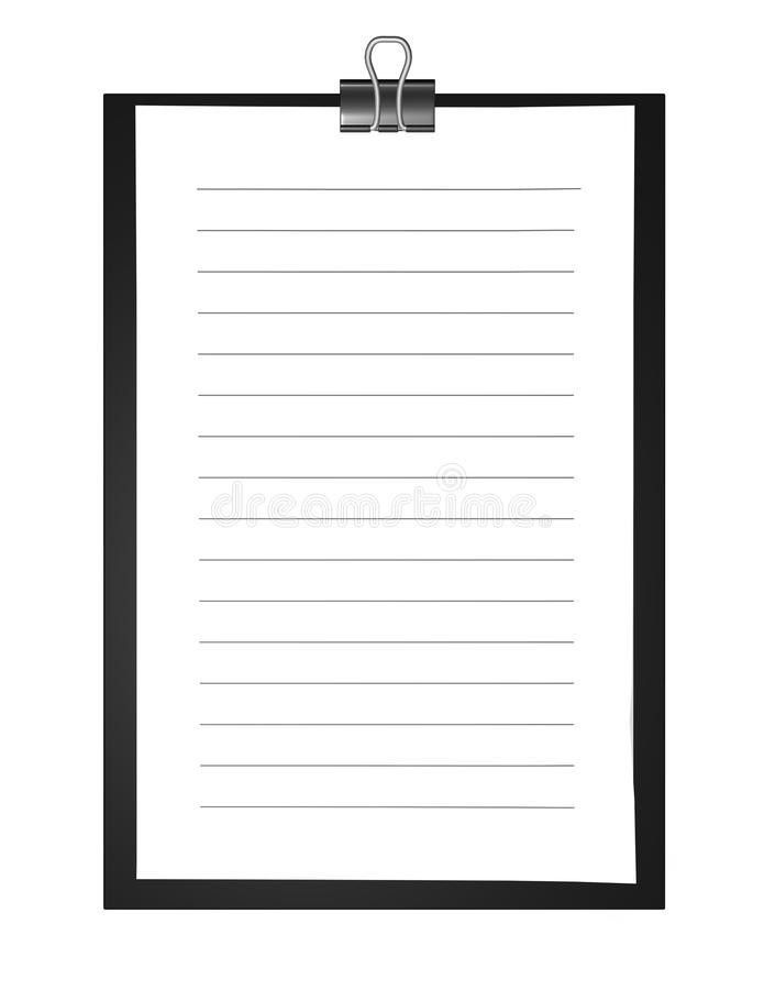 Background Note Paper With Lined Paper Sheet And Copy Space Stock ...