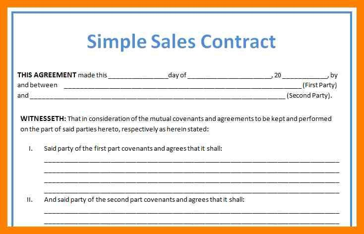 6+ simple mobile home purchase agreement | simple cv formate