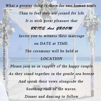 Funny Beach Wedding Invitation Wording - vertabox.Com