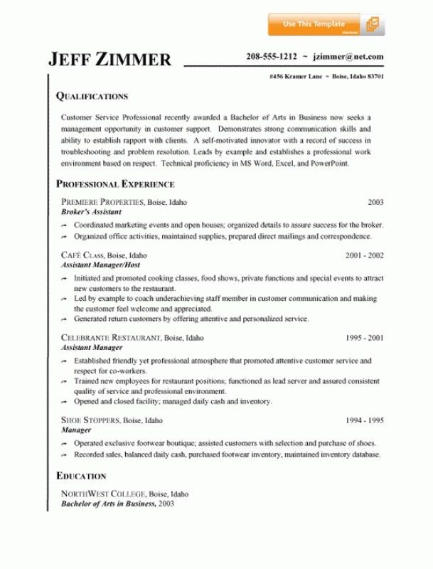 Customer Service Summary For Resume – Resume Examples