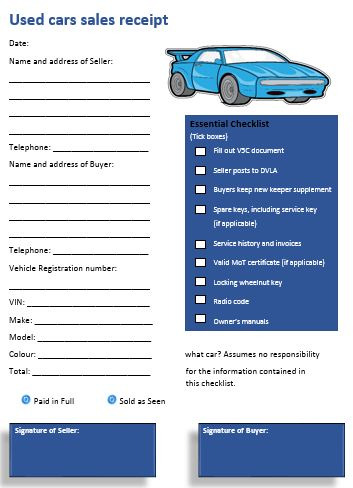 8 Authentic Used Car Sales Invoice Templates - Demplates