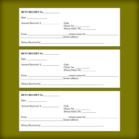 Rental Receipt Templates - Free Printable Receipts for Landloard