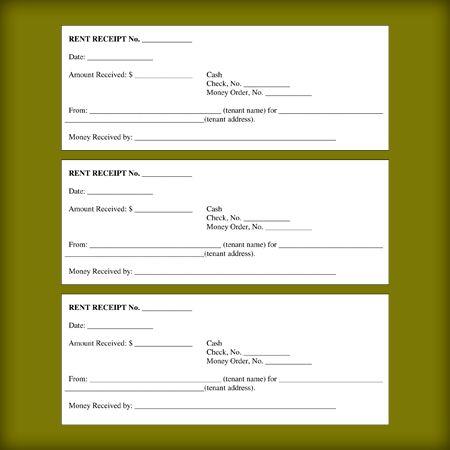 Rental Receipt Templates - Free Printable Receipts for Landloard