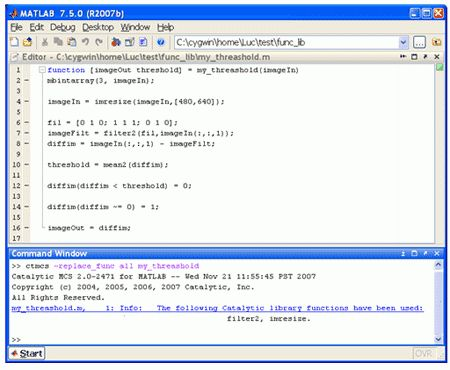 Chip Design » Generating C-code from MATLAB Functions by Luc Semeria