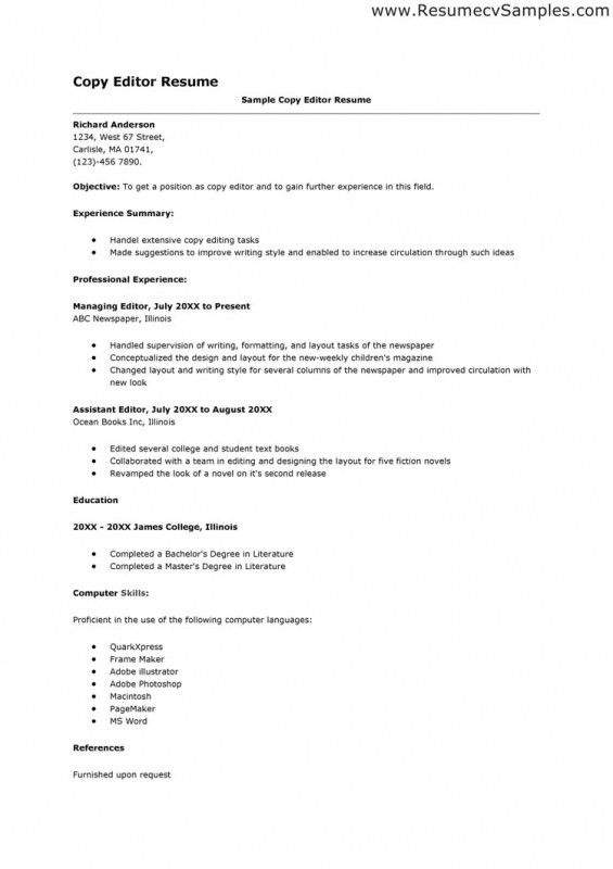 Copy Of A Resume For A Job | Samples Of Resumes