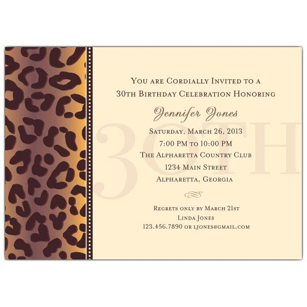 Birthday Invitation Template 30Th Birthday – orderecigsjuice.info