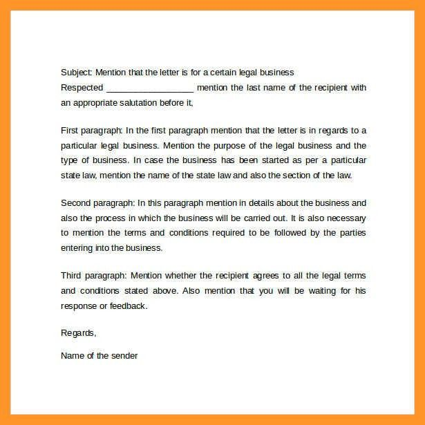 professional business letter format | sop example