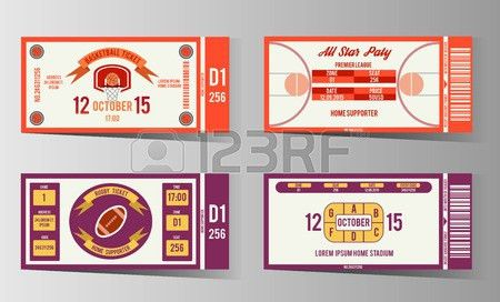 1,869 Sport Ticket Cliparts, Stock Vector And Royalty Free Sport ...
