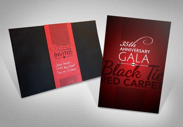 The Center 35th Anniversary Gala Invitation | Up and Up Creative ...