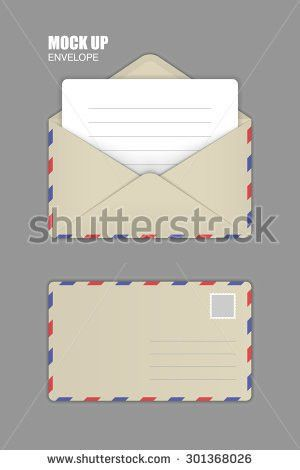 Business Envelope Template. Simple Envelope Template Vector Free ...