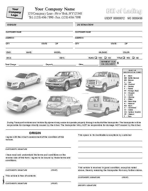 condition report form, 2 part 3 part 4 part, printed form