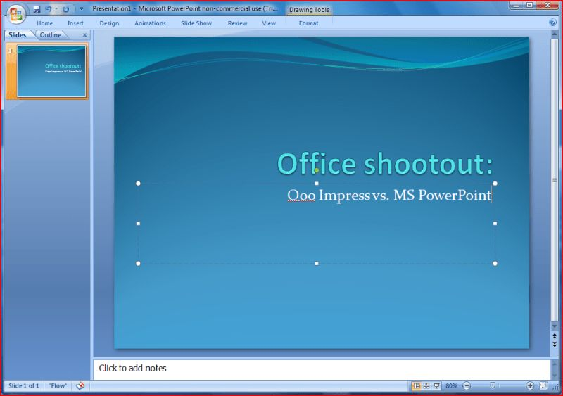 linux powerpoint template office shootout openoffice impress vs ...