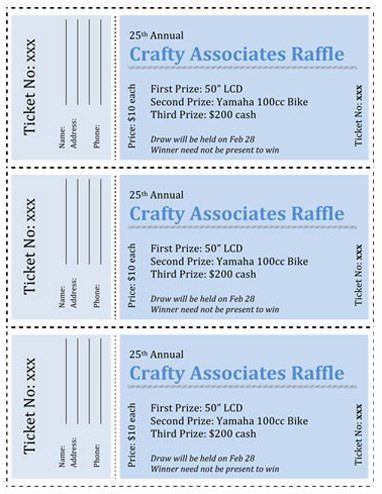 15 Free Raffle Ticket Templates. Follow these steps to create your ...