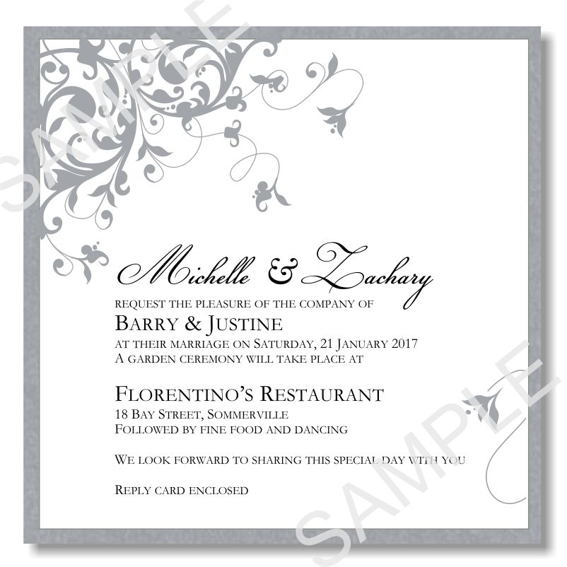 Silver Wedding Invitation Templates - Themesflip.Com