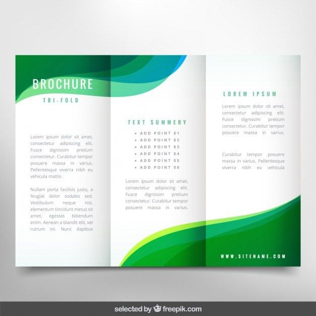 Green wavy brochure Vector | Free Download