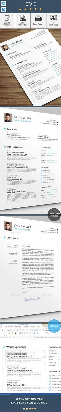 Professional Resume Template for Word | 1, 2 and 3 Page Resume ...