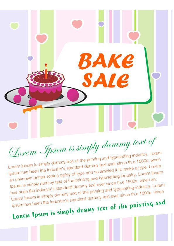 Engaging Free Bake Sale Flyer Templates For Fundraising Events .
