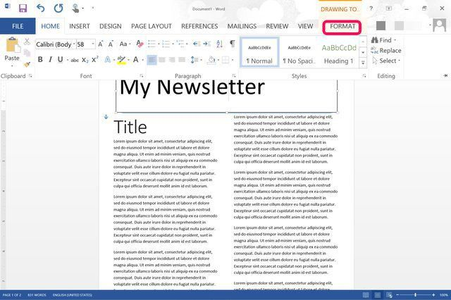 How to Make a Newsletter Template in Word | Techwalla.com
