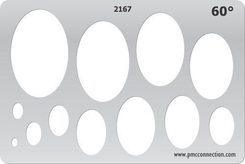 Metal Clay Template - 60 Degree Oval - Metal Clay Templates ...