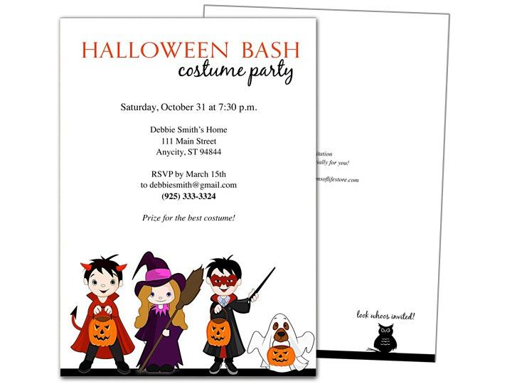 Halloween Invitation Templates Microsoft Word – Festival Collections