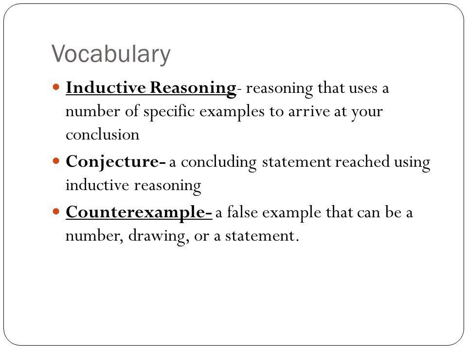 Ms. Andrejko 2-1 Inductive Reasoning and Conjecture. - ppt download