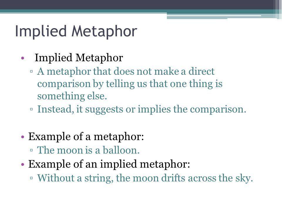 "Implied Metaphor ""Fog"" ""Fire and Ice"". Implied Metaphor ▫A ..."