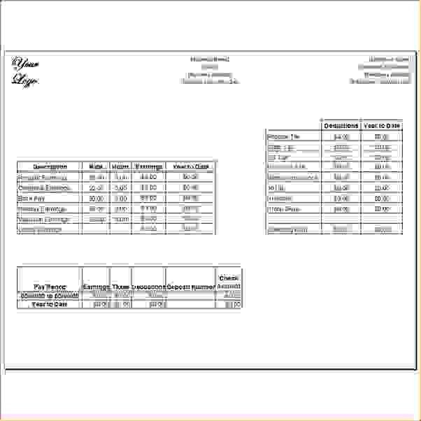 8 Blank Pay Stubs TemplateAgenda Template Sample | Agenda Template ...