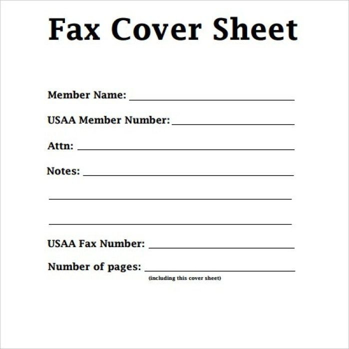 Cover Fax Letter