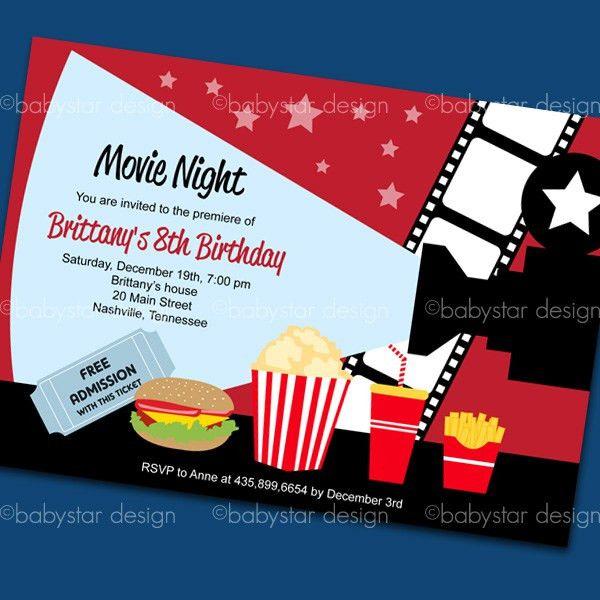 Movie Invitation Clipart (68+)