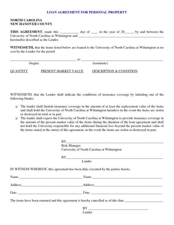 Free Sample Loan Agreement Between Friends Free Sample Loan ...