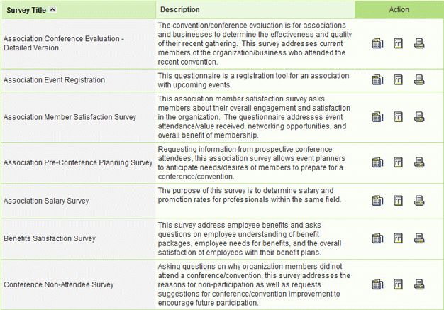 Online Survey Bank, Sample Survey Templates, Sample Questionnaire