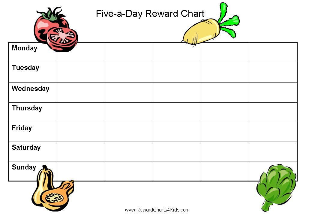 Five a Day for Kids | Free 5 a Day Sticker Charts