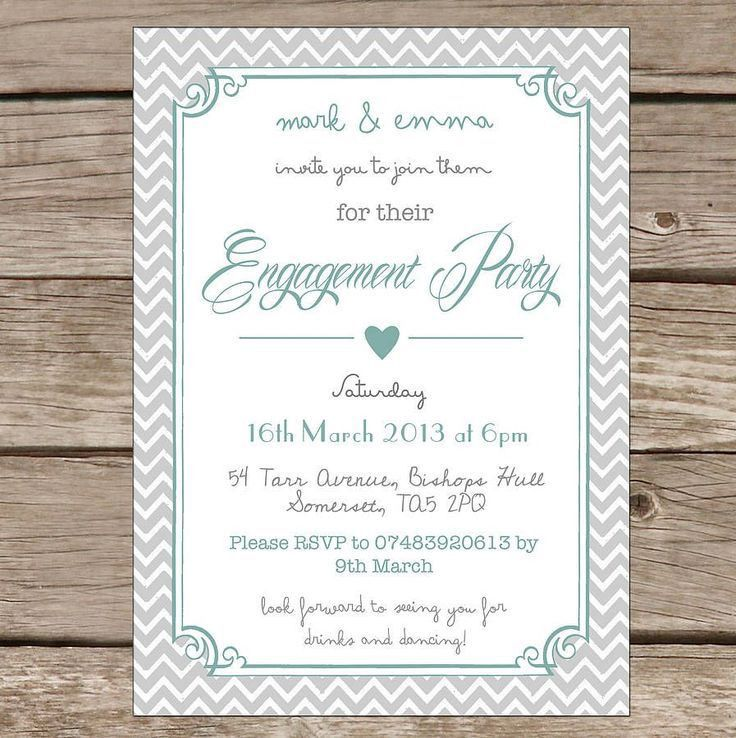 word engagement party invitation templates | engagement ...