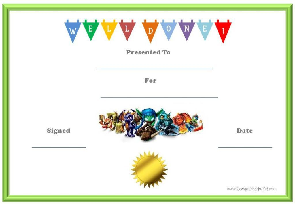 Free Certificate Templates For Kids Besttemplate123 Free Templates ...
