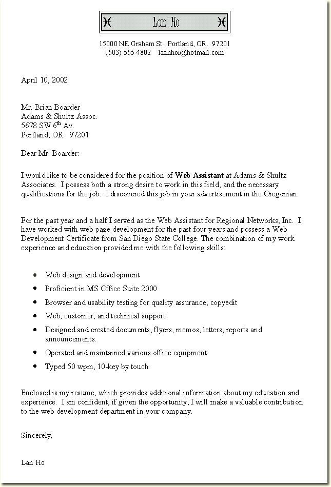 cover letter samples free cover letter template for resume samples ...