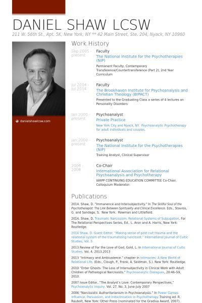 Faculty Resume samples - VisualCV resume samples database