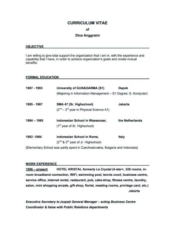 resume_objective_statement_example. template for resume cover ...