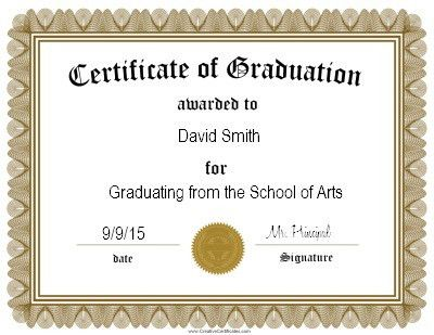 graduation certificate template | Projects to Try | Pinterest
