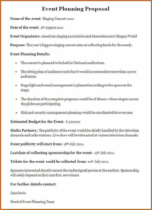 9+ event proposal template | Job Resumes Word
